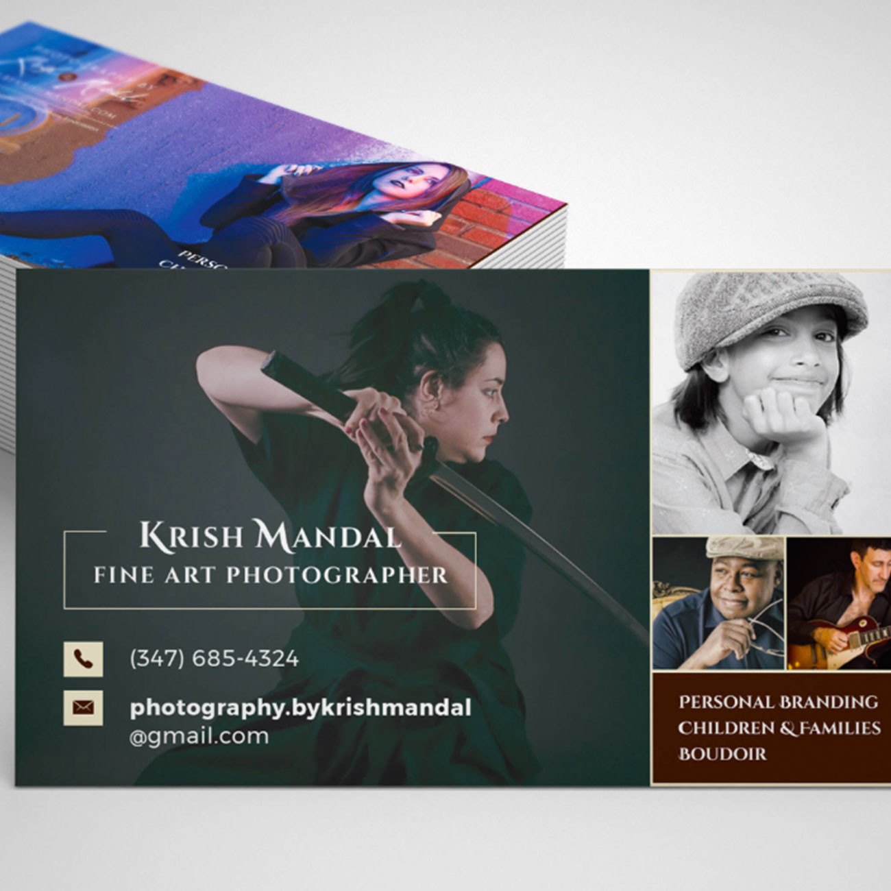 Image of Krish Mandal Business Card